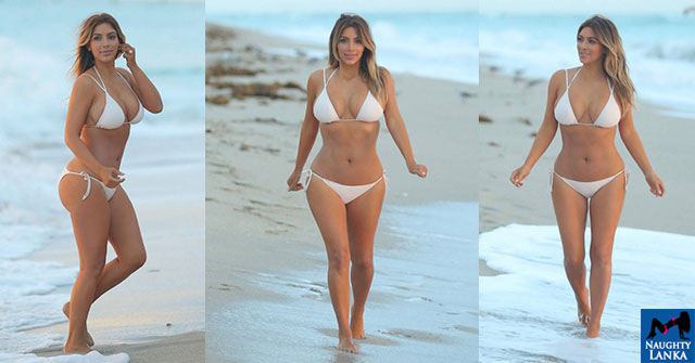 Kim Kardashian On The Miami Beach