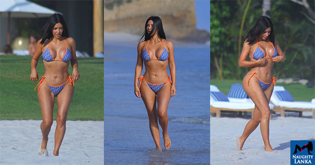 Kim Kardashian Bikini Body At Puna Mita Beach