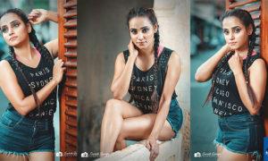 Nishadi Kariyawasam Hot Denim Shorts