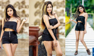 Shakila Hapuarachchie Hot Black Dress