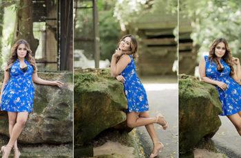 Chalani Weerarathne Blue Short Dress