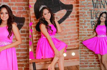 Geethma Bandara Beauty In Pink Dress