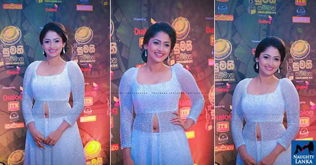 Nayanathara Wickramarachchi At Sumathi Tele Awards 2018