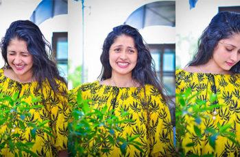 Nayanathara Wickramarachchi Hot In Yellow Top