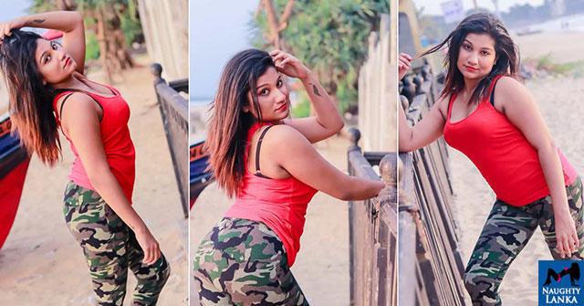 Piumi Sandaruwani Teasing Tight Pants