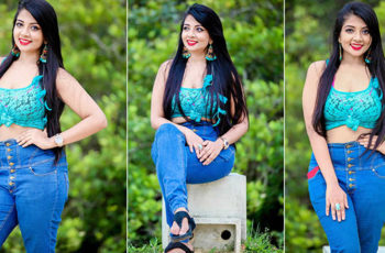 Udari Kaushalya Blue Denim Photoshoot